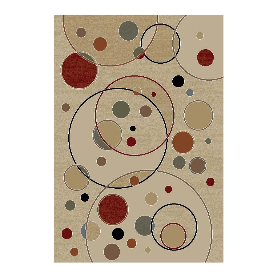 Concord Global Valencia Rectangular Cream Floral Woven Area Rug (Common: 8-ft x 10-ft; Actual: 7.83-ft x 9.83-ft)