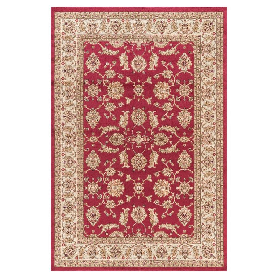 Concord Global Valencia Red Rectangular Indoor Woven Oriental Area Rug (Common: 4 x 6; Actual: 47-in W x 67-in L x 3.92-ft Dia)