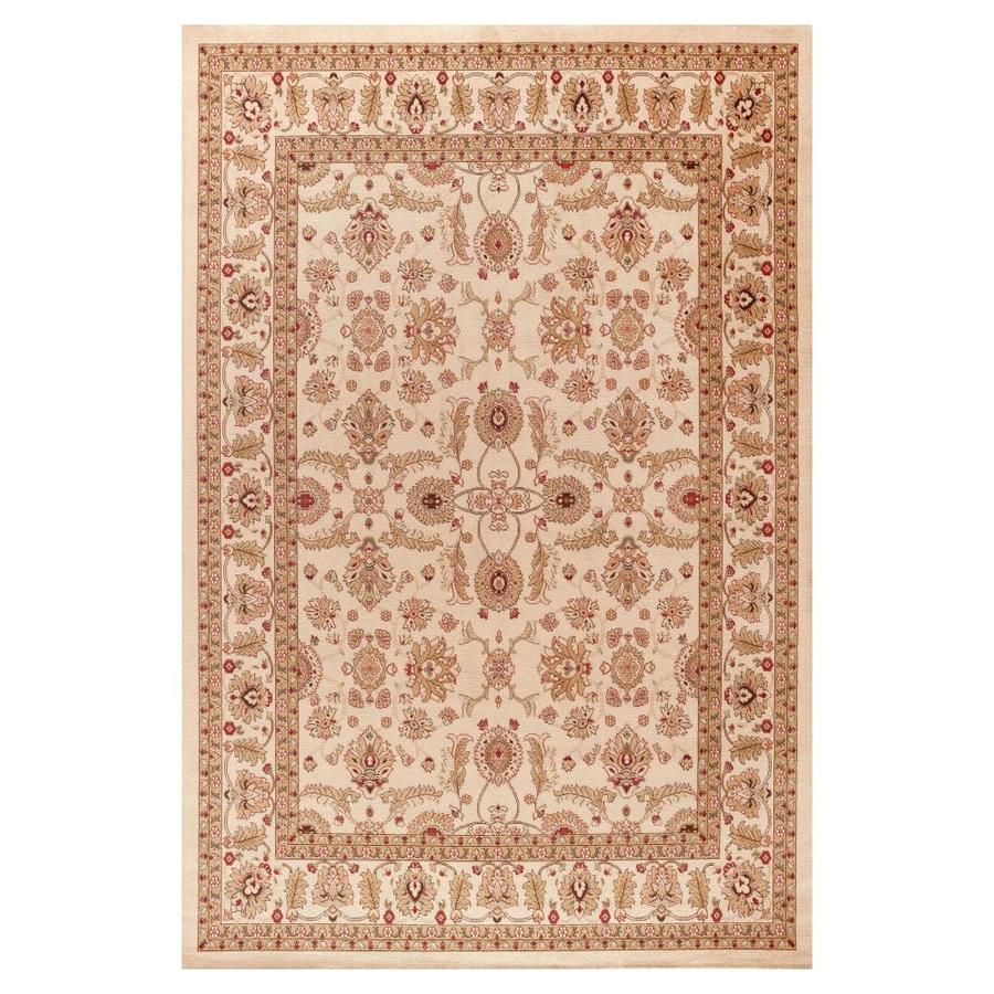 Concord Global Valencia Ivory Rectangular Indoor Woven Oriental Area Rug (Common: 5 x 8; Actual: 63-in W x 91-in L x 5.25-ft Dia)