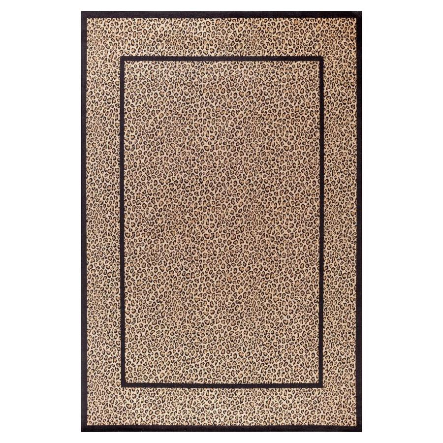 Concord Global Valencia Beige Rectangular Indoor Machine-made Animals Area Rug (Common: 5 x 8; Actual: 5.25-ft W x 7.58-ft L x 5.25-ft Dia)