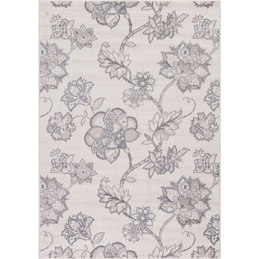Concord Global Palermo Ivory Rectangular Indoor Machine-Made Oriental Area Rug (Common: 5 x 8; Actual: 5.25-ft W x 7.58-ft L)