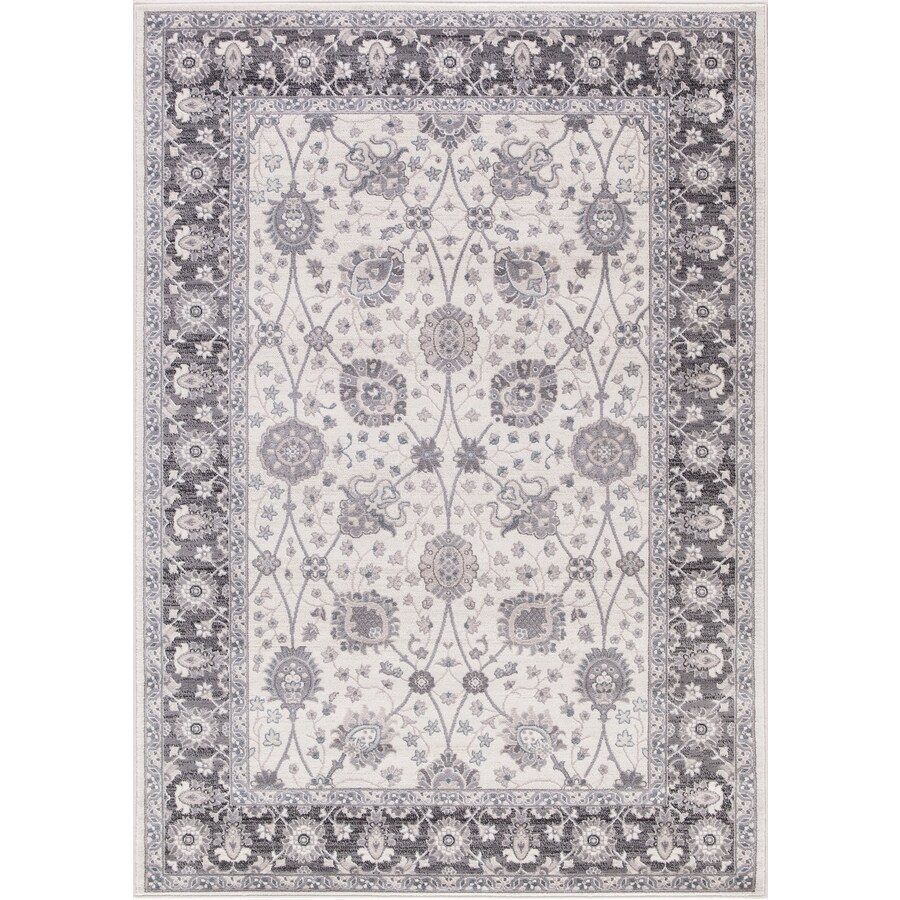 Concord Global Palermo Ivory/Gray Rectangular Indoor Machine-Made Oriental Area Rug (Common: 3 x 4; Actual: 2.58-ft W x 4-ft L)