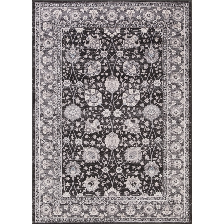 Concord Global Palermo Anthracite Rectangular Indoor Machine-Made Oriental Area Rug (Common: 3 x 4; Actual: 2.58-ft W x 4-ft L)