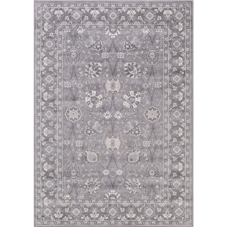 Concord Global Palermo Gray Rectangular Indoor Machine-Made Oriental Area Rug (Common: 7 x 10; Actual: 6.58-ft W x 9.25-ft L)