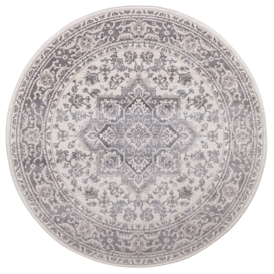 Concord Global Palermo Ivory Round Indoor Machine-Made Oriental Area Rug (Common: 5 x 5; Actual: 5.25-ft W x 5.25-ft L x 5.25-ft Dia)