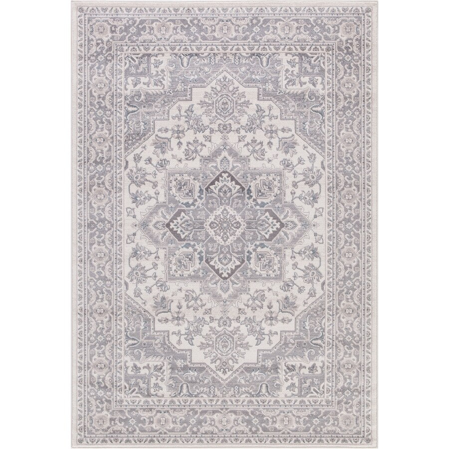 Concord Global Palermo Ivory Rectangular Indoor Machine-Made Oriental Area Rug (Common: 7 x 10; Actual: 6.58-ft W x 9.25-ft L)