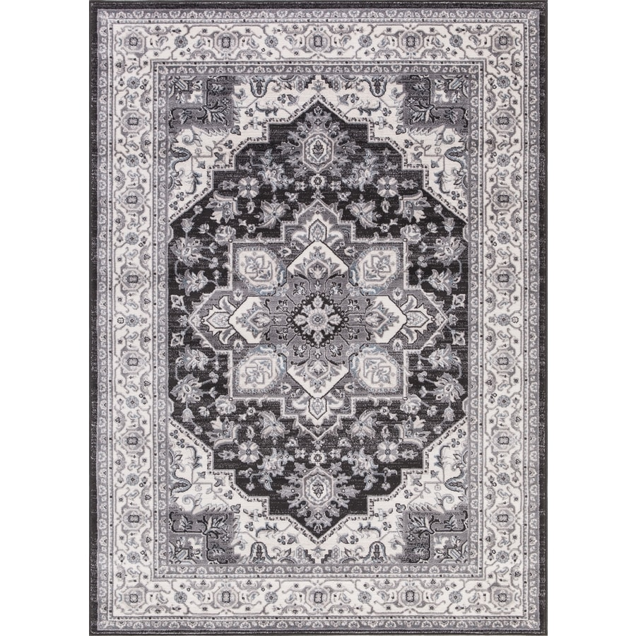 Concord Global Palermo Anthracite Rectangular Indoor Machine-Made Oriental Area Rug (Common: 8 x 11; Actual: 7.83-ft W x 10.5-ft L)