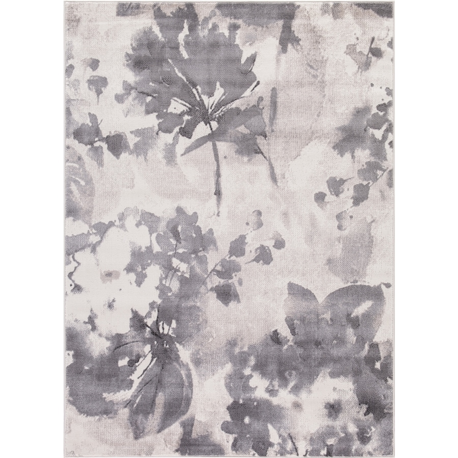 Concord Global Palermo Ivory Rectangular Indoor Machine-Made Distressed Area Rug (Common: 5 x 8; Actual: 5.25-ft W x 7.58-ft L)