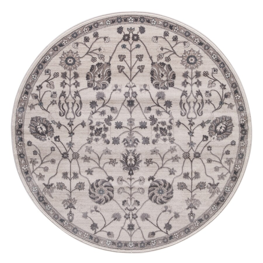 Concord Global Palermo Ivory Round Indoor Machine-Made Oriental Area Rug (Common: 8 x 8; Actual: 7.83-ft W x 7.83-ft L x 7.83-ft Dia)
