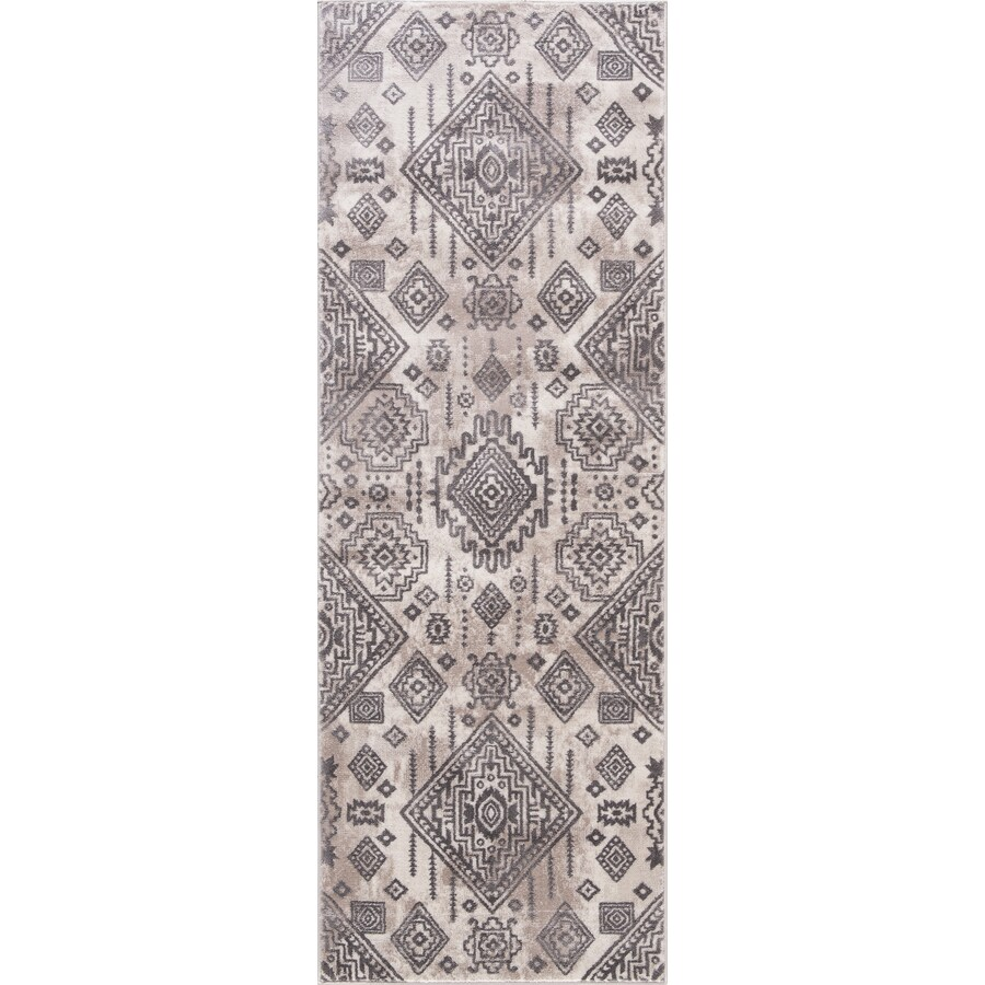 Concord Global Palermo Ivory Rectangular Indoor Machine-Made Oriental Runner (Common: 2 x 8; Actual: 2.58-ft W x 7.58-ft L)