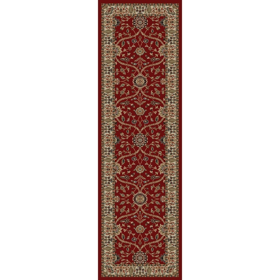 Concord Global Valencia Red Rectangular Indoor Woven Oriental Runner (Common: 2 x 8; Actual: 2.25-ft W x 7.58-ft L x 2.25-ft Dia)