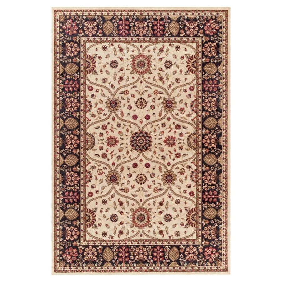 Concord Global Valencia Ivory Rectangular Indoor Woven Oriental Area Rug (Common: 8 x 10; Actual: 7.83-ft W x 9.83-ft L x 7.83-ft Dia)