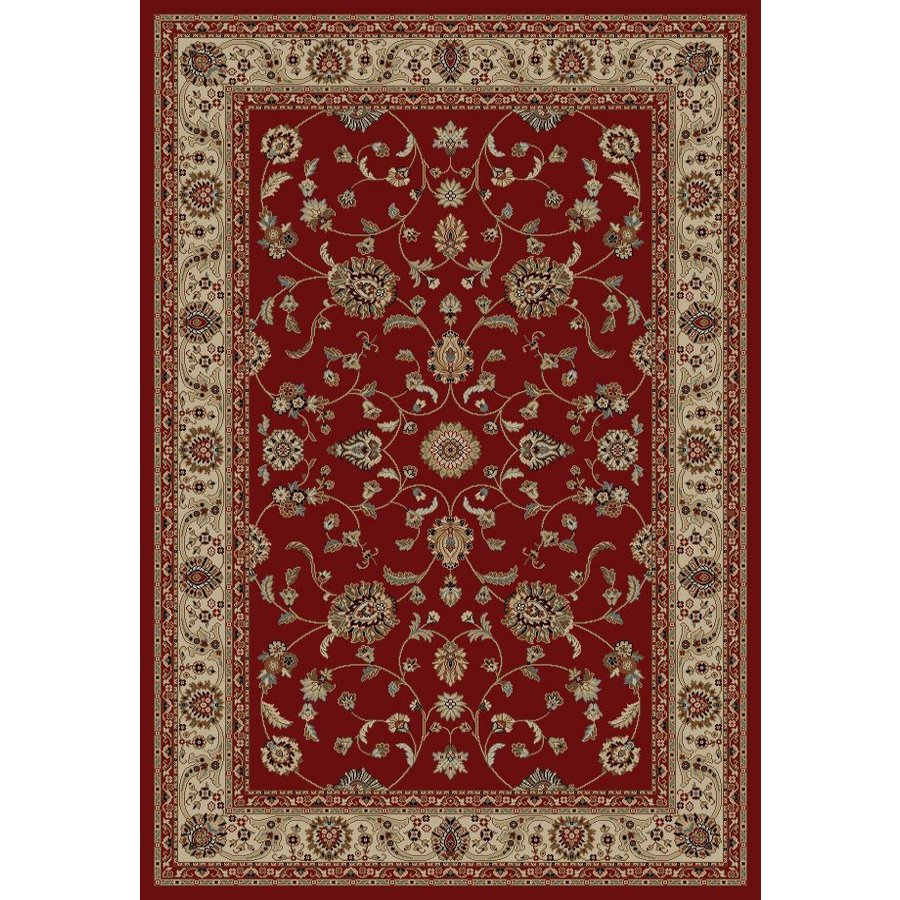 Concord Global Valencia Red Rectangular Indoor Woven Oriental Area Rug (Common: 5 x 8; Actual: 5.25-ft W x 7.58-ft L x 5.25-ft Dia)