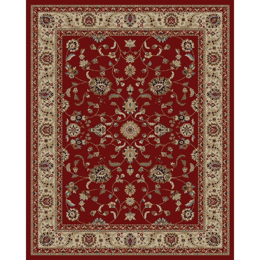 Shop Concord Global Valencia Red Rectangular Indoor