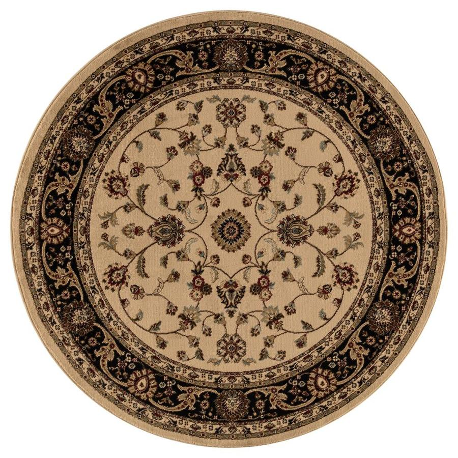 Shop Concord Global Valencia Ivory Round Indoor Oriental