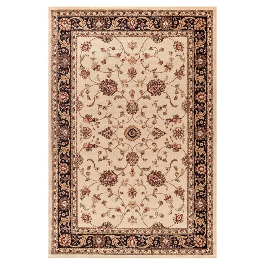 Concord Global Marash Ivory Oriental Area Rug (Common: 5 x 8; Actual: 5.25-ft W x 7.58-ft L x 5.25-ft dia)