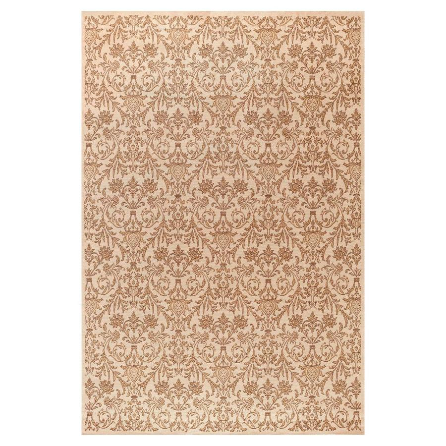 Concord Global Valencia Ivory Rectangular Indoor Woven Oriental Area Rug (Common: 4 x 6; Actual: 3.92-ft W x 5.58-ft L x 3.92-ft Dia)