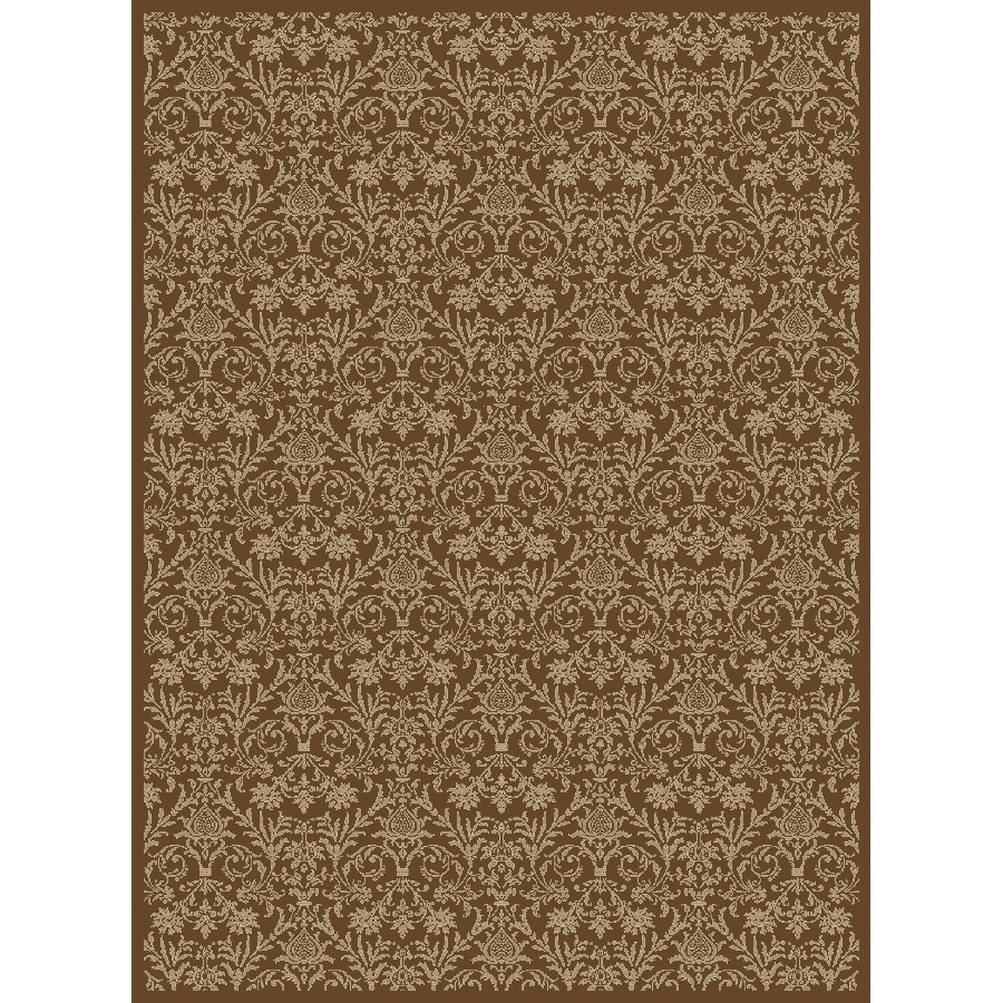 Concord Global Valencia Brown Rectangular Indoor Woven Oriental Area Rug (Common: 9 x 13; Actual: 111-in W x 150-in L x 9.25-ft Dia)