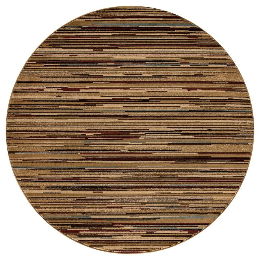Concord Global Valencia Multicolor Round Indoor Woven Oriental Area Rug (Common: 5 x 5; Actual: 5.25-ft W x 5.25-ft L x 5.25-ft Dia)