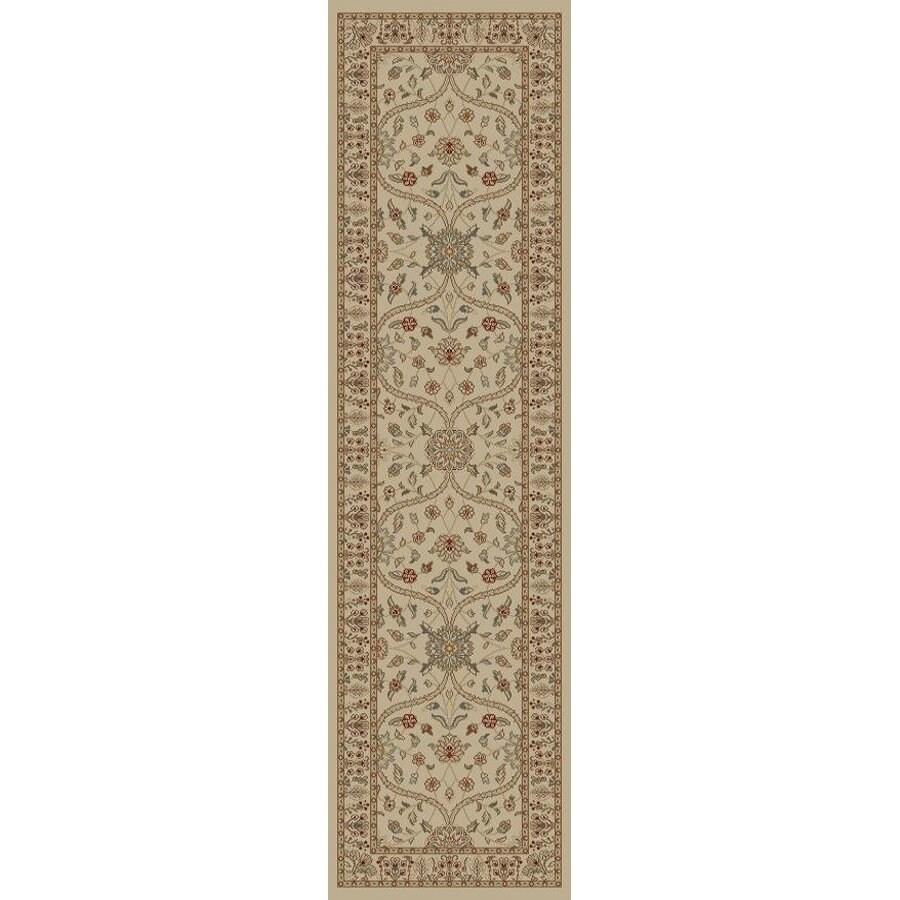 Style Selections Hangsinger Ivory Rectangular Indoor Woven Oriental Runner (Common: 2 x 7; Actual: 1.92-ft W x 7.25-ft L x 1.92-ft Dia)