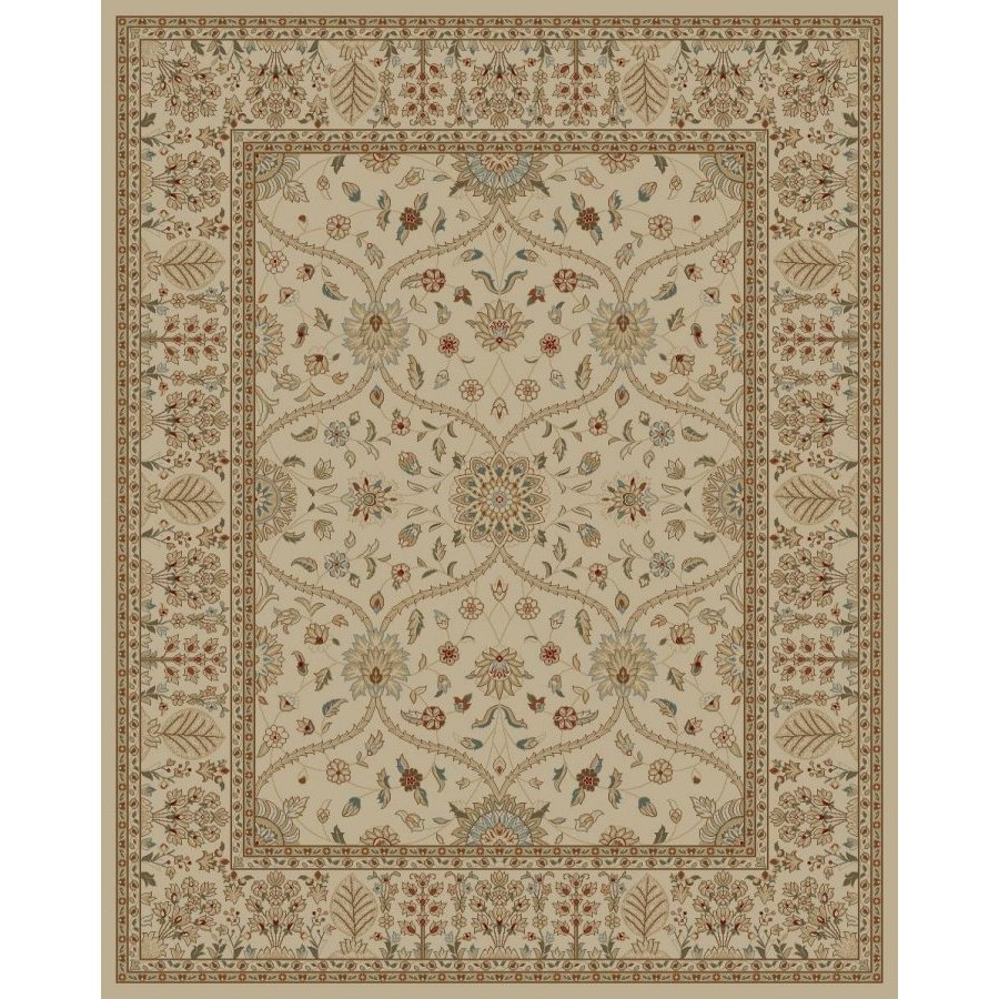 Style Selections Hangsinger Ivory Rectangular Indoor Machine-Made Oriental Area Rug (Common: 8 x 10; Actual: 7.83-ft W x 9.83-ft L x 7.83-ft Dia)
