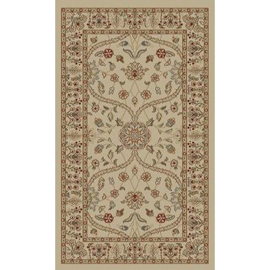 Style Selections Hangsinger Ivory Rectangular Indoor Woven Oriental Throw Rug (Common: 2 x 3; Actual: 1.92-ft W x 3.25-ft L x 1.92-ft Dia)