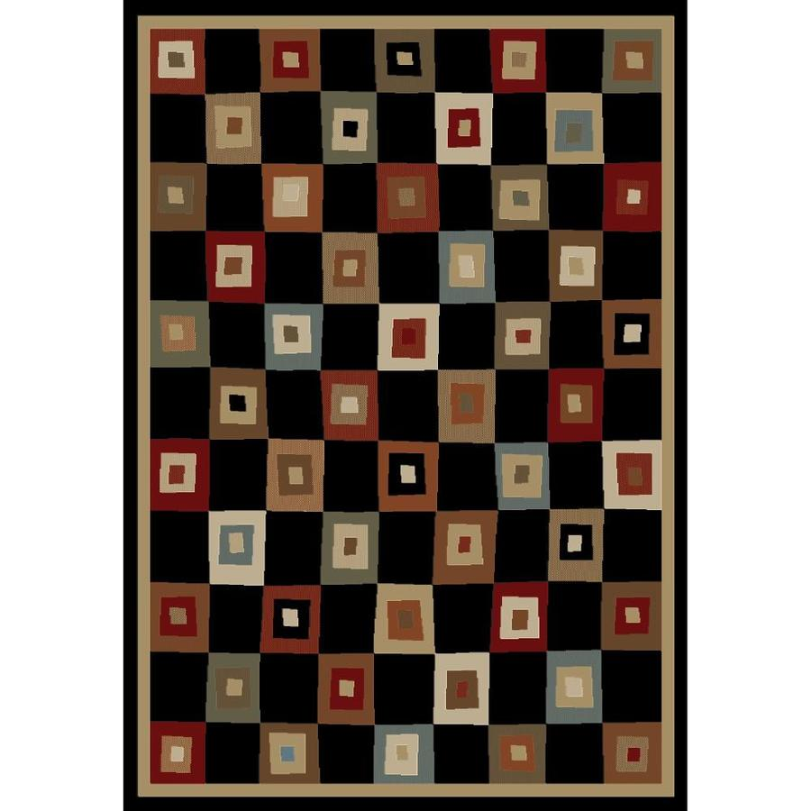 Concord Global Studio Black Rectangular Indoor Woven Area Rug (Common: 5 x 7; Actual: 63-in W x 87-in L x 5.25-ft Dia)