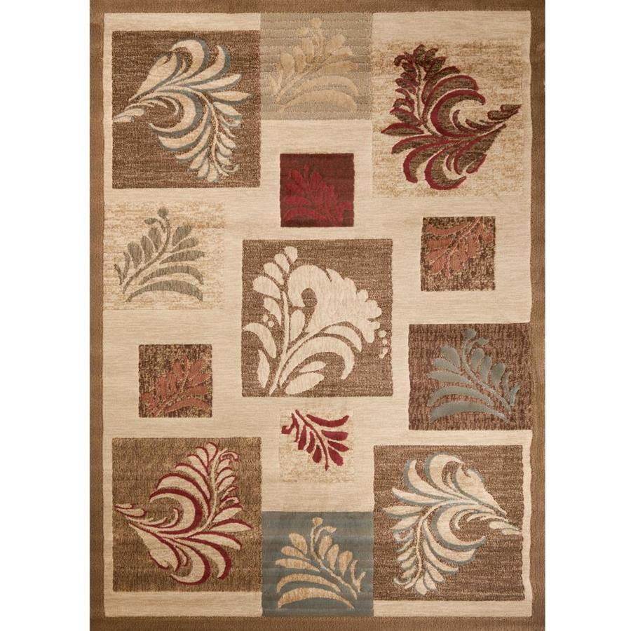 Concord Global Studio Ivory Rectangular Indoor Woven Area Rug (Common: 7 x 10; Actual: 79-in W x 114-in L x 6.58-ft Dia)