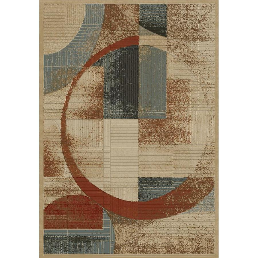 Concord Global Studio Gold Rectangular Indoor Woven Area Rug (Common: 7 x 10; Actual: 6.58-ft W x 9.5-ft L x 6.58-ft Dia)