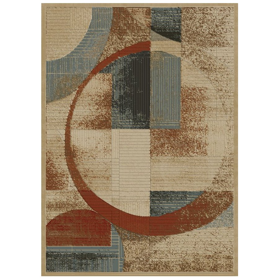 Concord Global Studio Gold Rectangular Indoor Woven Area Rug (Common: 8 x 11; Actual: 94-in W x 130-in L x 7.83-ft Dia)