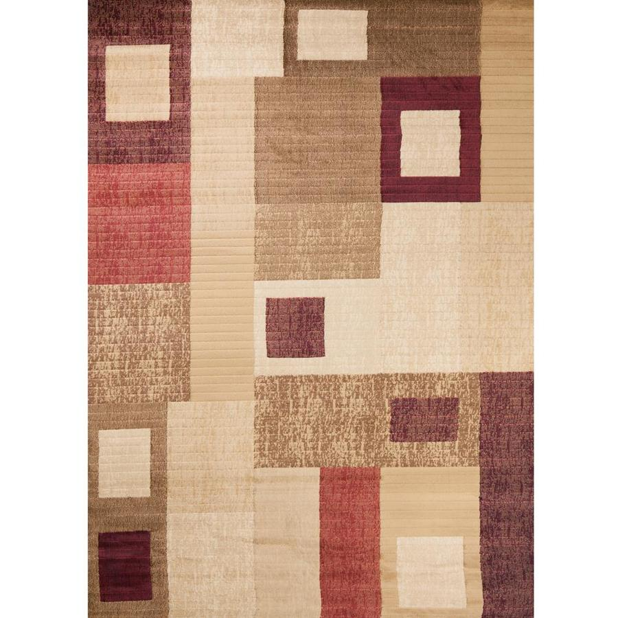 Concord Global Studio Gold Rectangular Indoor Woven Area Rug (Common: 5 x 7; Actual: 5.25-ft W x 7.25-ft L x 5.25-ft Dia)
