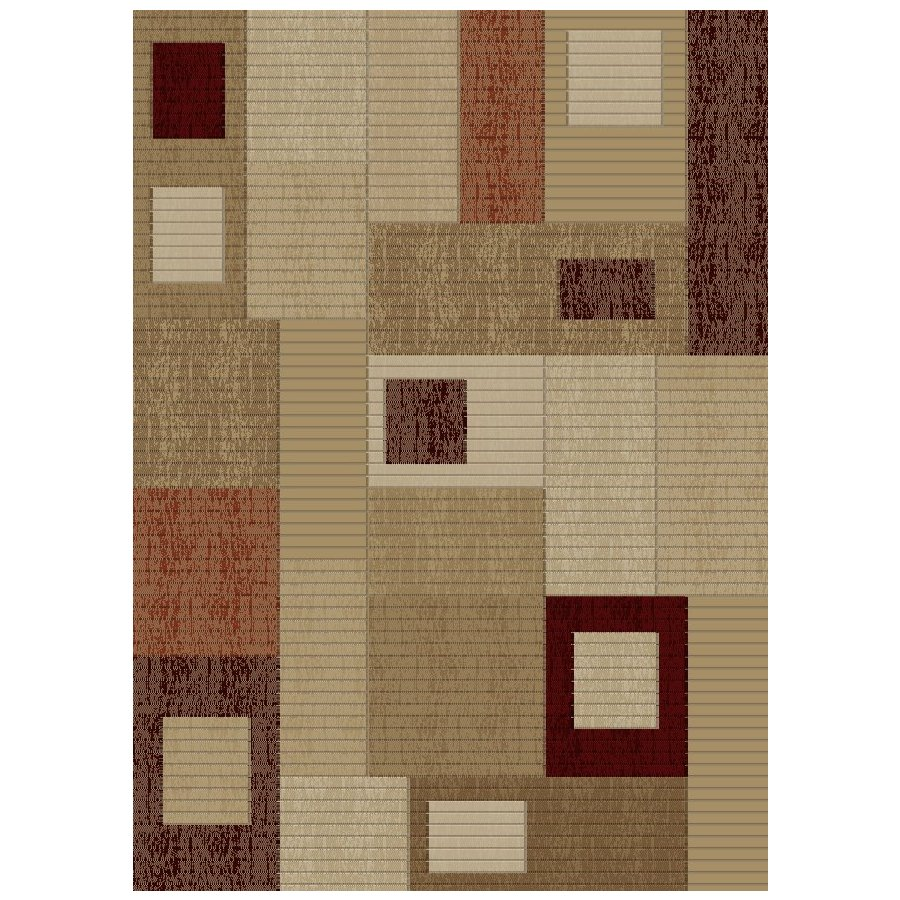 Concord Global Studio Gold Rectangular Indoor Woven Area Rug (Common: 8 x 11; Actual: 7.83-ft W x 10.83-ft L x 7.83-ft Dia)