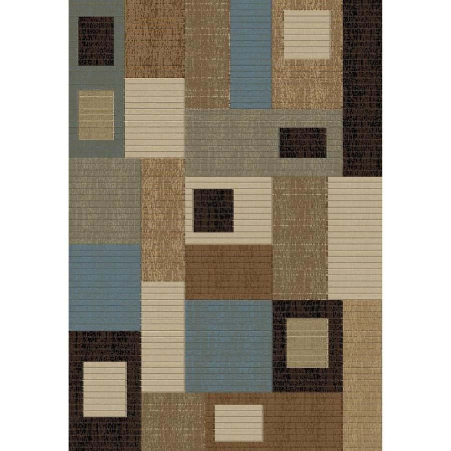 Concord Global Studio Blue Rectangular Indoor Woven Area Rug (Common: 8 x 11; Actual: 94-in W x 130-in L x 7.83-ft Dia)