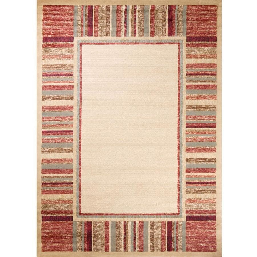 Concord Global Studio Ivory Rectangular Indoor Woven Area Rug (Common: 8 x 11; Actual: 7.83-ft W x 10.83-ft L x 7.83-ft Dia)