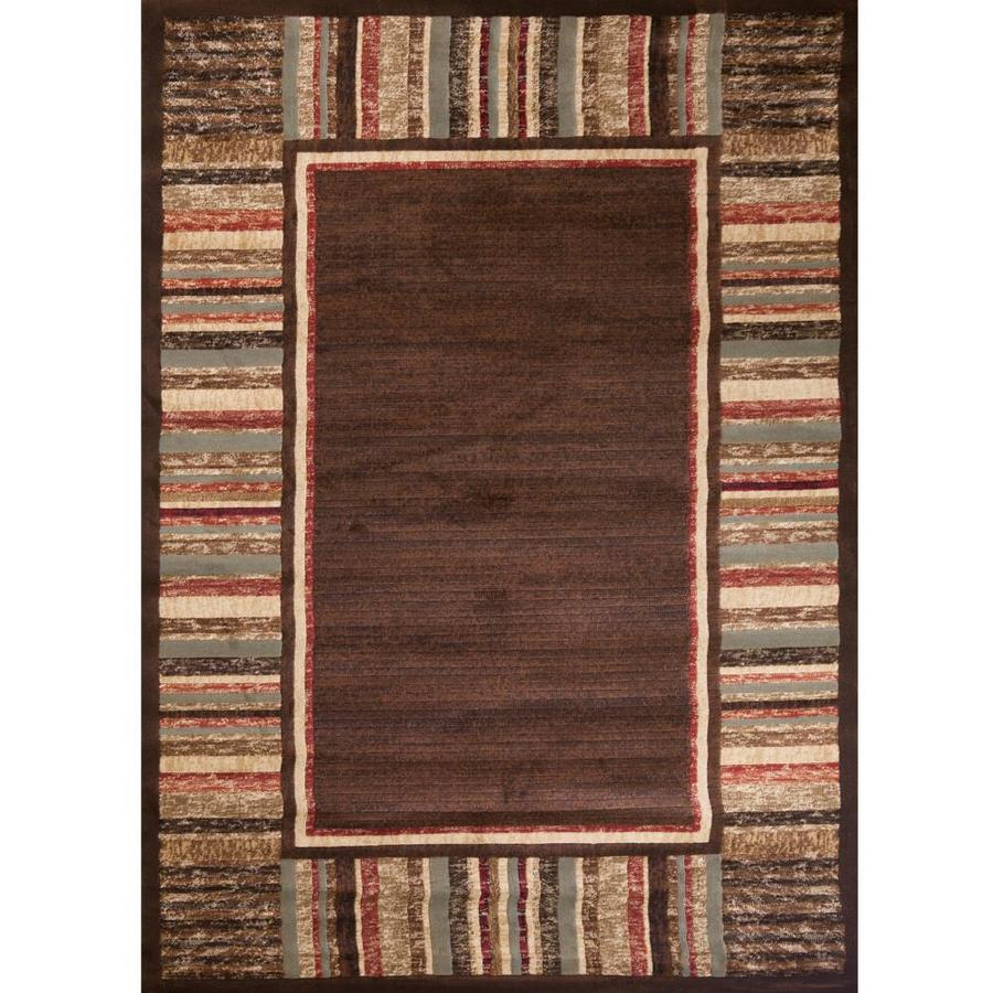 Concord Global Studio Brown Rectangular Indoor Woven Area Rug (Common: 5 x 7; Actual: 5.25-ft W x 7.25-ft L x 5.25-ft Dia)