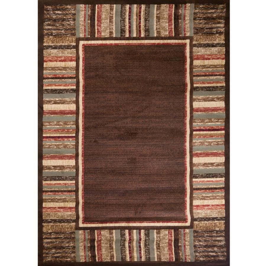 Concord Global Studio Brown Indoor Area Rug (Common: 8 x 11; Actual: 7.83-ft W x 10.83-ft L x 7.83-ft dia)