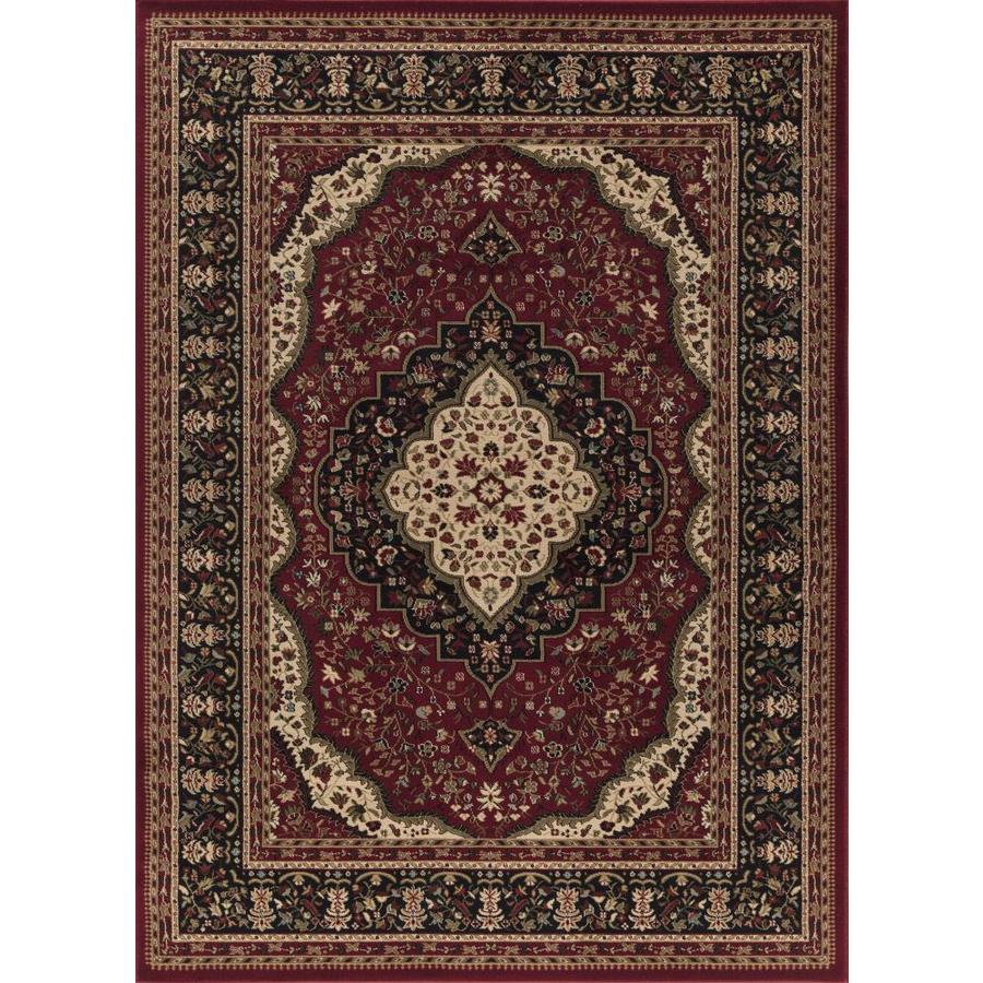 Concord Global Florence Red Rectangular Indoor Woven Area Rug (Common: 4 x 6; Actual: 3.92-ft W x 5.42-ft L x 3.92-ft Dia)