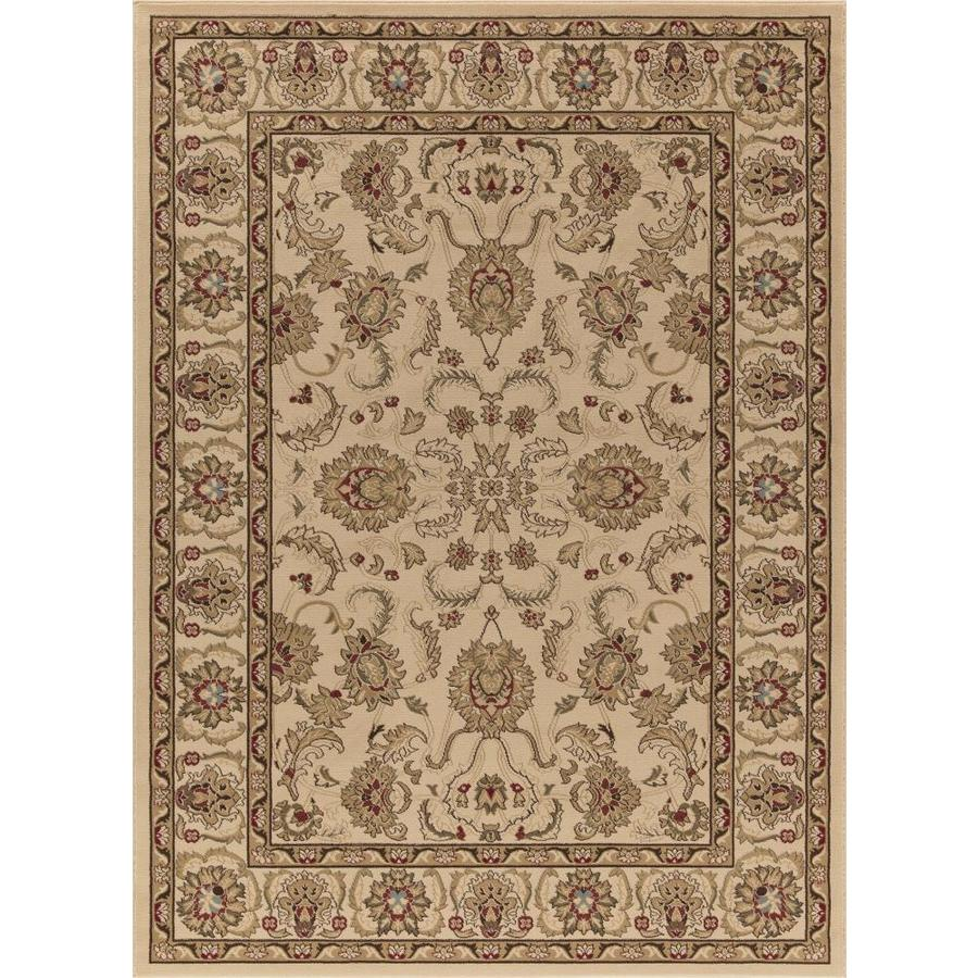 Concord Global Florence Ivory Rectangular Indoor Woven Oriental Area Rug (Common: 8 x 11; Actual: 7.83-ft W x 10.83-ft L x 7.83-ft Dia)
