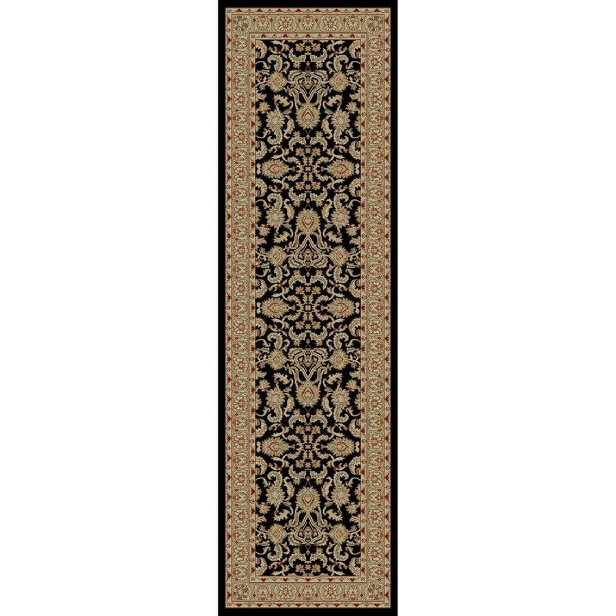 Concord Global Florence Black Rectangular Indoor Oriental Runner (Common: 2 x 7; Actual: 2.25-ft W x 7.25-ft L x 2.25-ft dia)