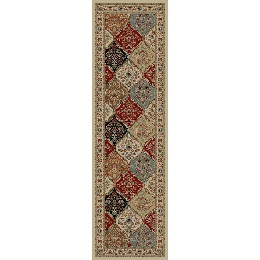 Concord Global Florence Ivory Rectangular Indoor Oriental Runner (Common: 2 x 7; Actual: 2.25-ft W x 7.25-ft L x 2.25-ft dia)