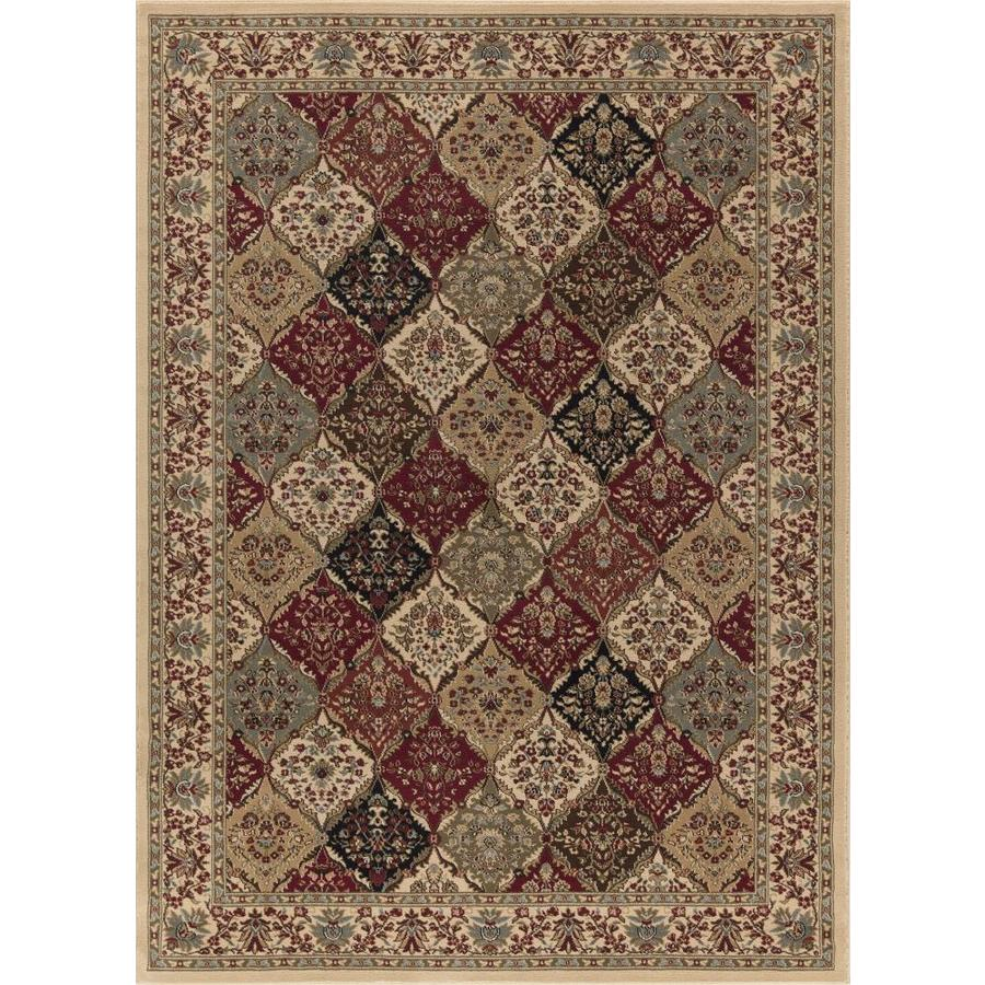 Concord Global Florence Ivory Rectangular Indoor Machine-made Oriental Area Rug (Common: 4 x 6; Actual: 3.92-ft W x 5.42-ft L x 3.92-ft Dia)