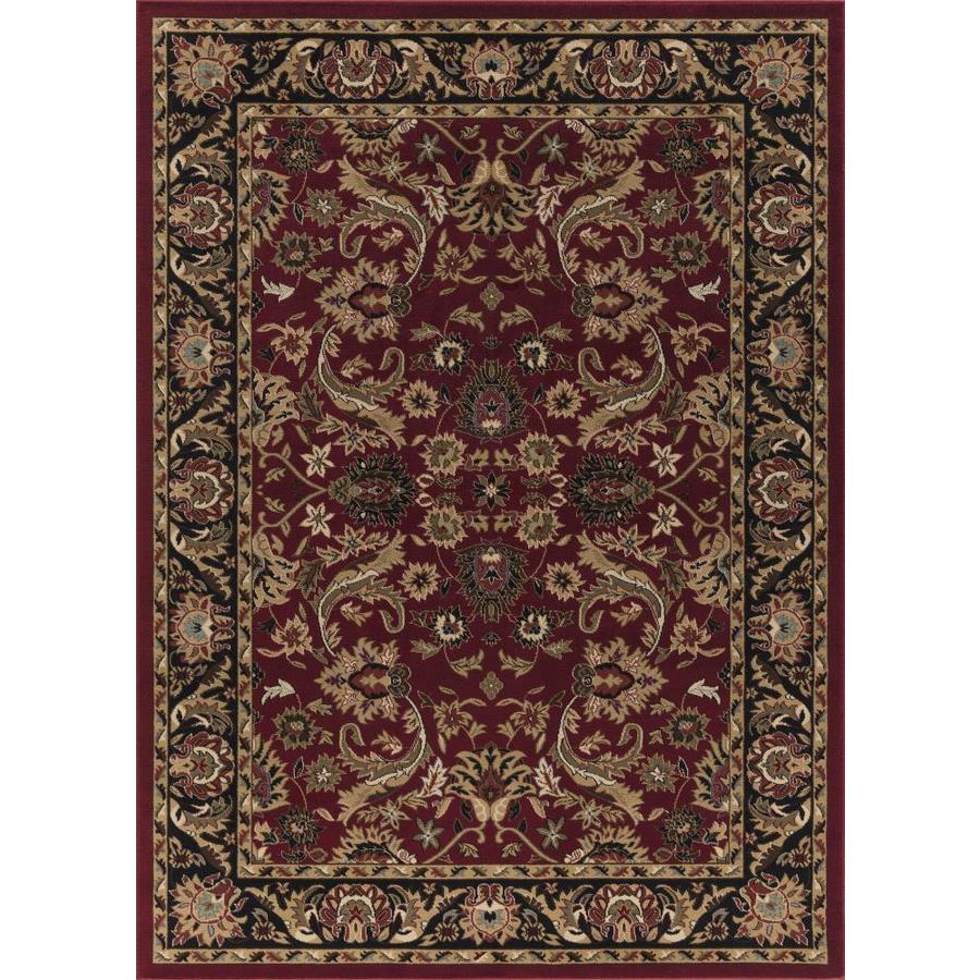 Concord Global Florence Red Rectangular Indoor Woven Oriental Area Rug (Common: 4 x 6; Actual: 3.92-ft W x 5.42-ft L x 3.92-ft Dia)