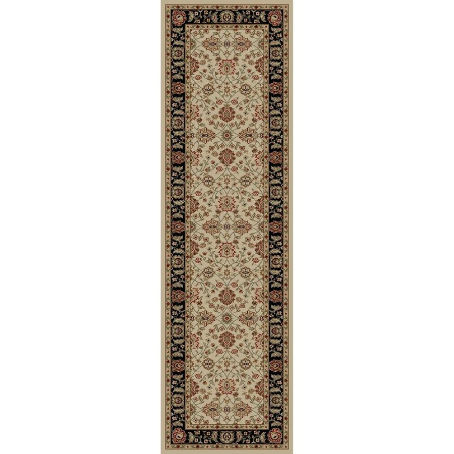 Concord Global Florence Ivory Rectangular Indoor Woven Oriental Runner (Common: 2 x 7; Actual: 27-in W x 87-in L x 2.25-ft Dia)