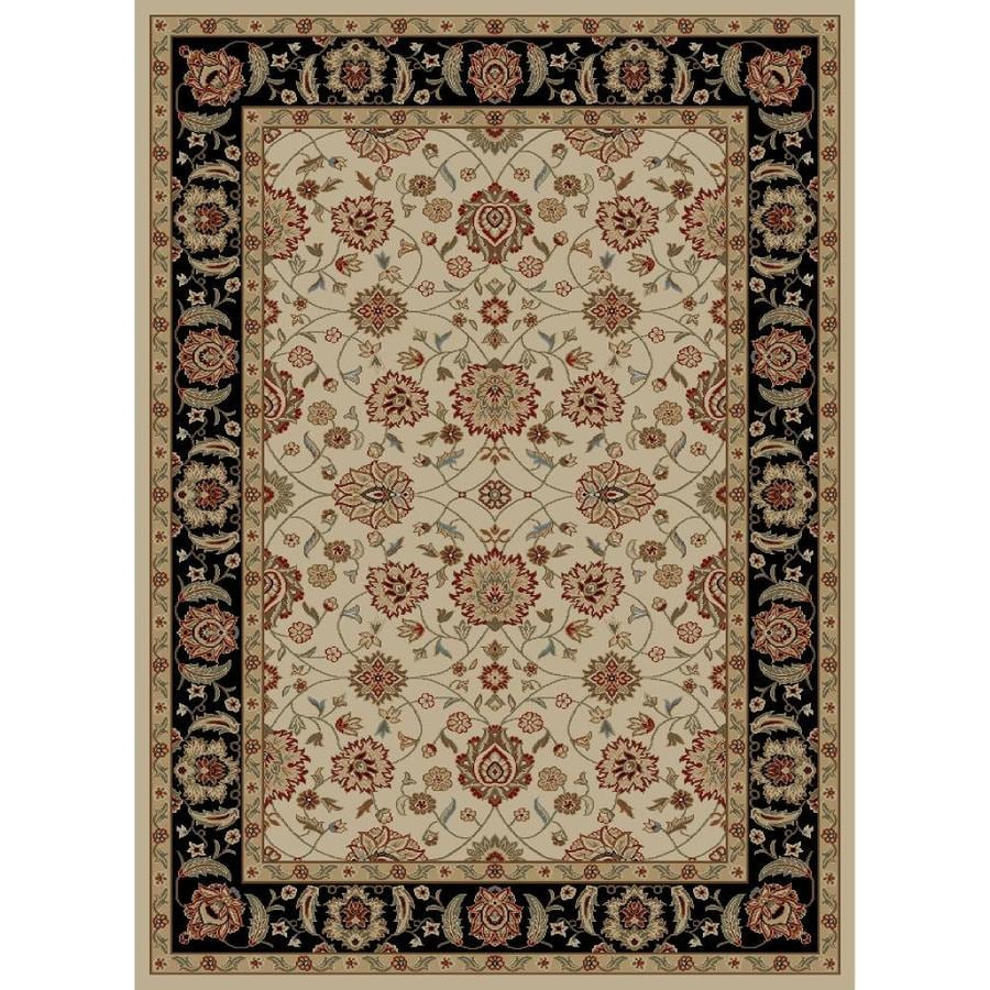 Concord Global Florence Ivory Rectangular Indoor Oriental Area Rug (Common: 9 x 13; Actual: 9.25-ft W x 12.5-ft L x 9.25-ft dia)