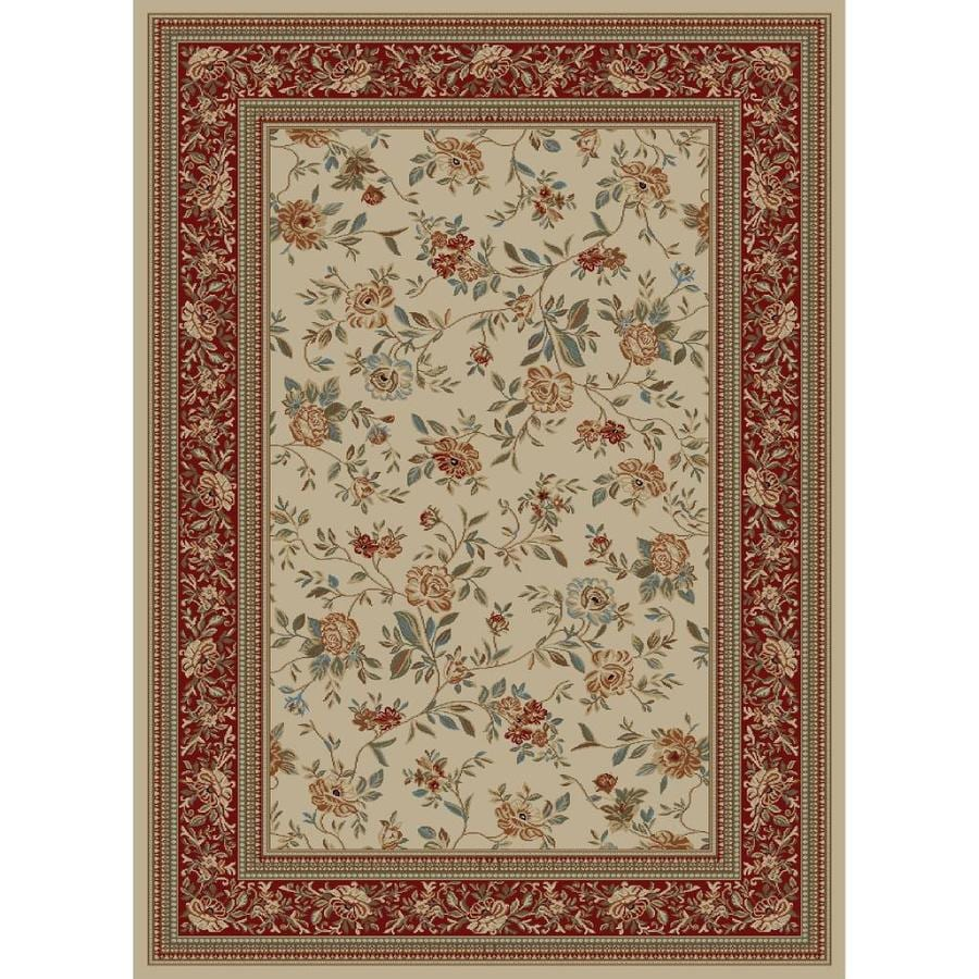 Concord Global Florence Ivory Rectangular Indoor Woven Oriental Area Rug (Common: 4 x 6; Actual: 47-in W x 65-in L x 3.92-ft Dia)