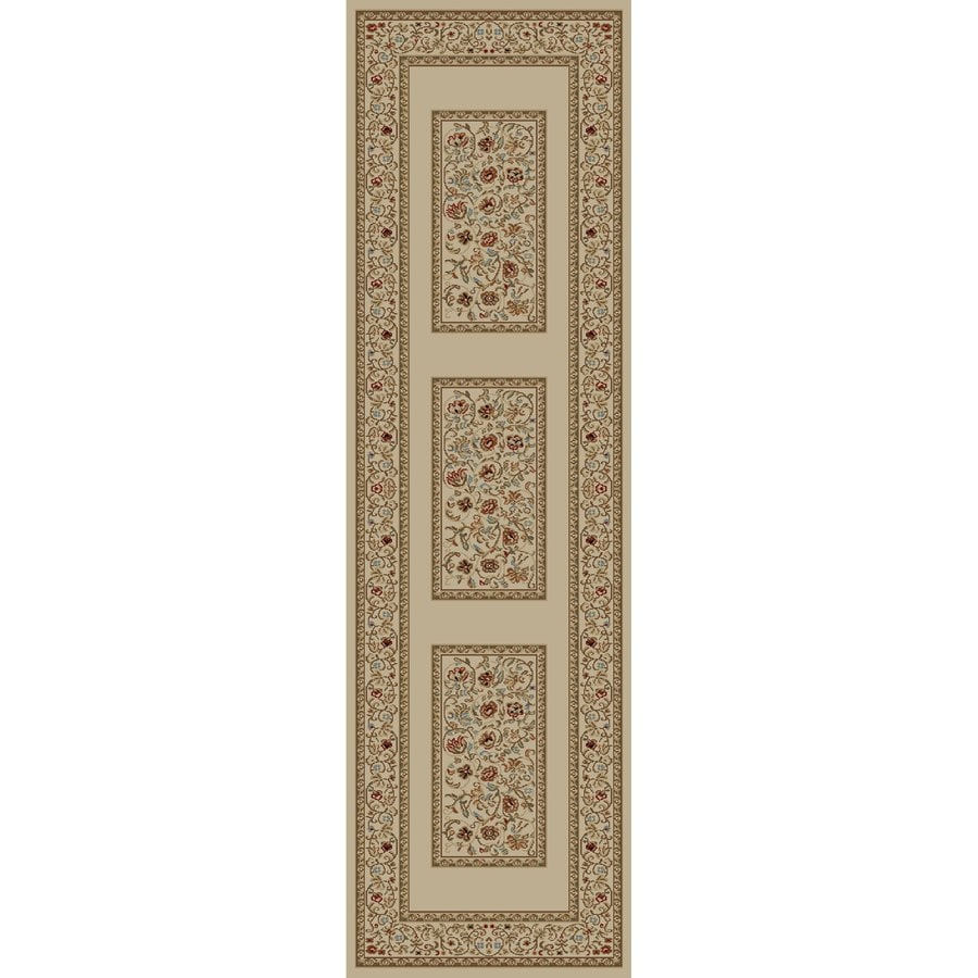Concord Global Florence Ivory Rectangular Indoor Woven Oriental Runner (Common: 2 x 7; Actual: 26-in W x 87-in L x 2.17-ft Dia)
