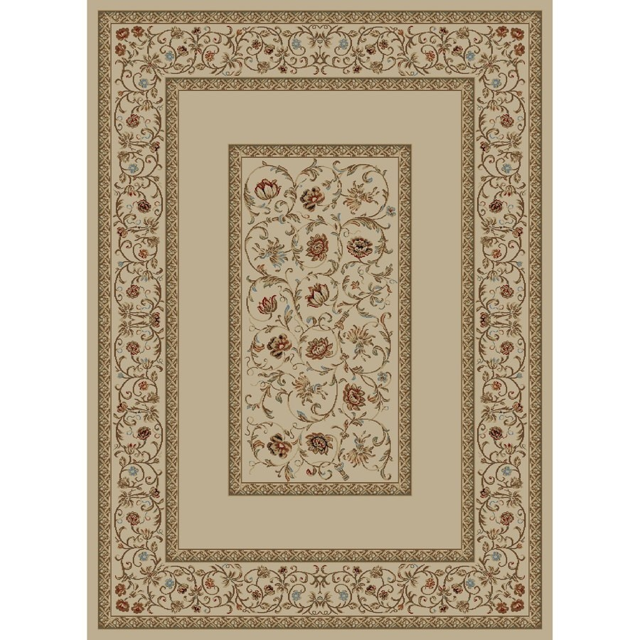 Concord Global Florence Ivory Rectangular Indoor Woven Oriental Area Rug (Common: 9 x 13; Actual: 9.25-ft W x 12.5-ft L x 9.25-ft Dia)