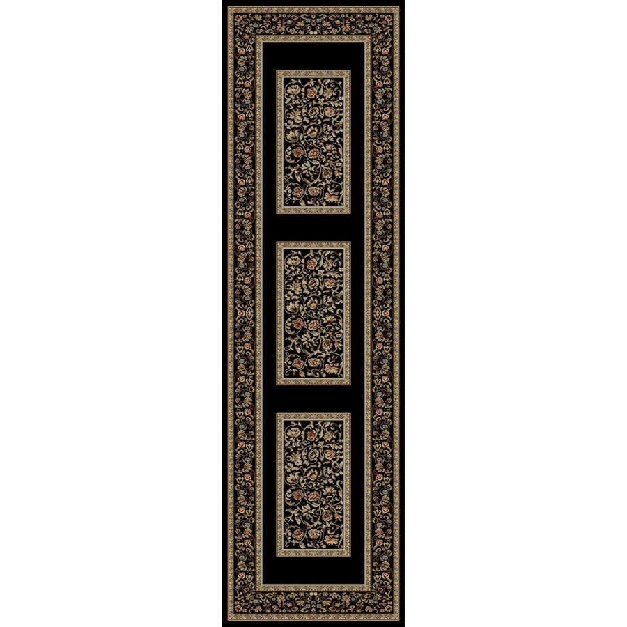 Concord Global Florence Black Rectangular Indoor Woven Oriental Runner (Common: 2 x 7; Actual: 2.17-ft W x 7.25-ft L x 2.17-ft Dia)