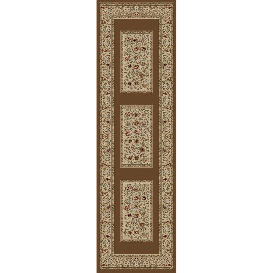 Concord Global Florence Brown Rectangular Indoor Woven Oriental Runner (Common: 2 x 7; Actual: 26-in W x 87-in L x 2.17-ft Dia)