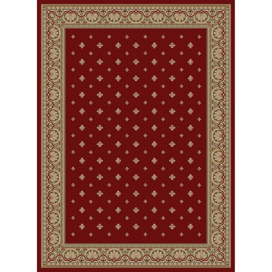 Concord Global Florence Red Rectangular Indoor Woven Oriental Area Rug (Common: 9 x 13; Actual: 9.25-ft W x 12.5-ft L x 9.25-ft Dia)